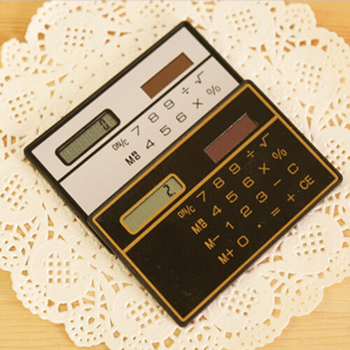 Special 8 Digit Ultra Thin Mini Credit Card Size Solar Power Pocket Calculator
