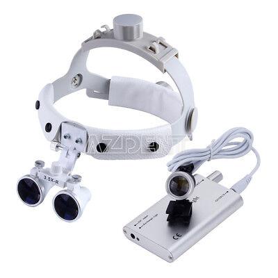 Led Head Light Dental Surgical Glasses Binocular Loupes Dy-108 3.5x-r White