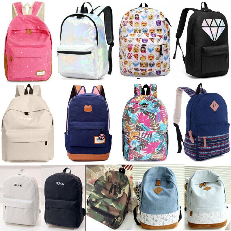 Womens Girls Backpack Casual Bags School Book Shoulder Bag T