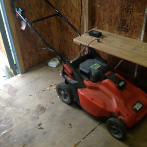 Black and Decker cordless electric lawnmower