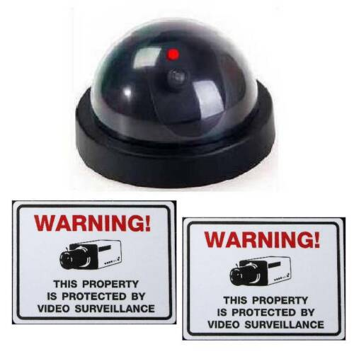 FAKE SECURITY DUMMY CAM CCD DOME CCTV CAMERA+LED+LENS