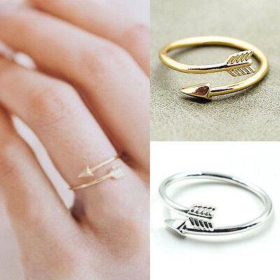 Adjustable Arrow Ring Sterling Silver Sideways Arrow Bow Archery Jewelry CA