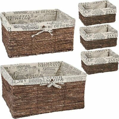 Juvale Wicker Basket - 5 Pack Storage Baskets for Shelves with Woven -