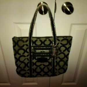 Authentic Coach Purse - Silver and Black