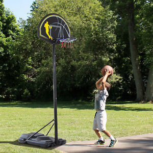 6.5'-10' Adjustable Portable Youth Kids Basketball Hoop System