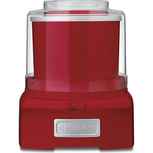 Cuisinart ICE-21R Frozen Yogurt-Ice Cream & Sorbet Maker, Red - Factory Refurbis