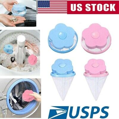 2pcs Floating Pet Fur Catcher Laundry Lint Pet Hair Remover For Washing Machine ()