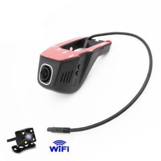 Full HD Car DVR Hidden with Reverse Cam - WiFi
