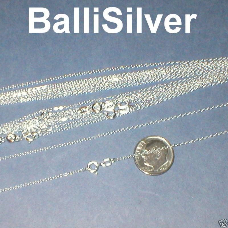 "10 St Silver Italian Fine CABLE Chain NECKLACES Lot 18"""