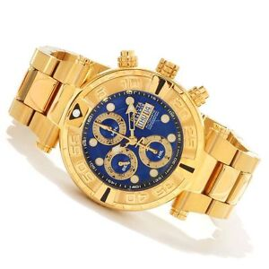 Invicta Mens RESERVE Subaqua Noma LIMITED VALJOUX 7750 Automatic Gold Watch