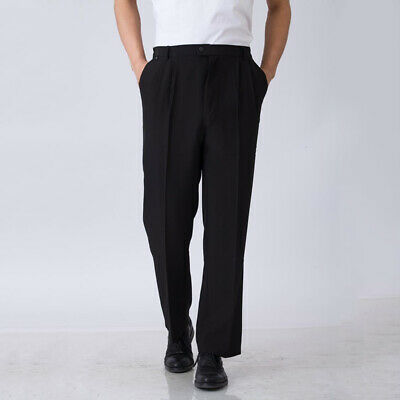 Chef Work Pants Canteen Restaurant Staff Uniforms Trousers Cooking Black Slacks