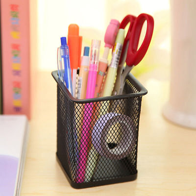 Durable Office Desk Pen Ruler Pencil Holder Cup Mesh Organizer Container
