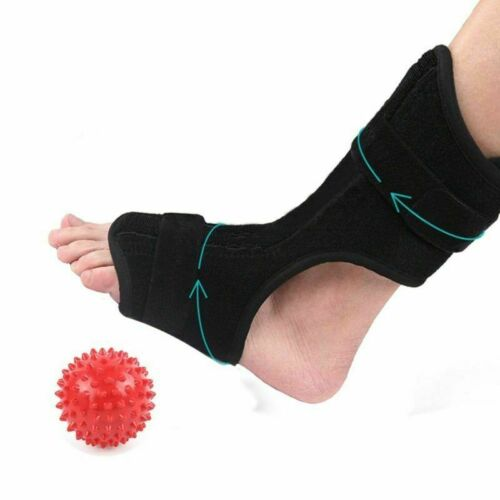 Foot Drop Brace Night Splint Plantar Fasciitis Pain Relief Sleep + Ball Massager Health & Beauty