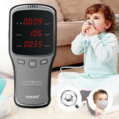 LED Digital Air Quality Detector Monitor PM1.0/PM2.5/PM10 HCHO Tester Meter NEW ()