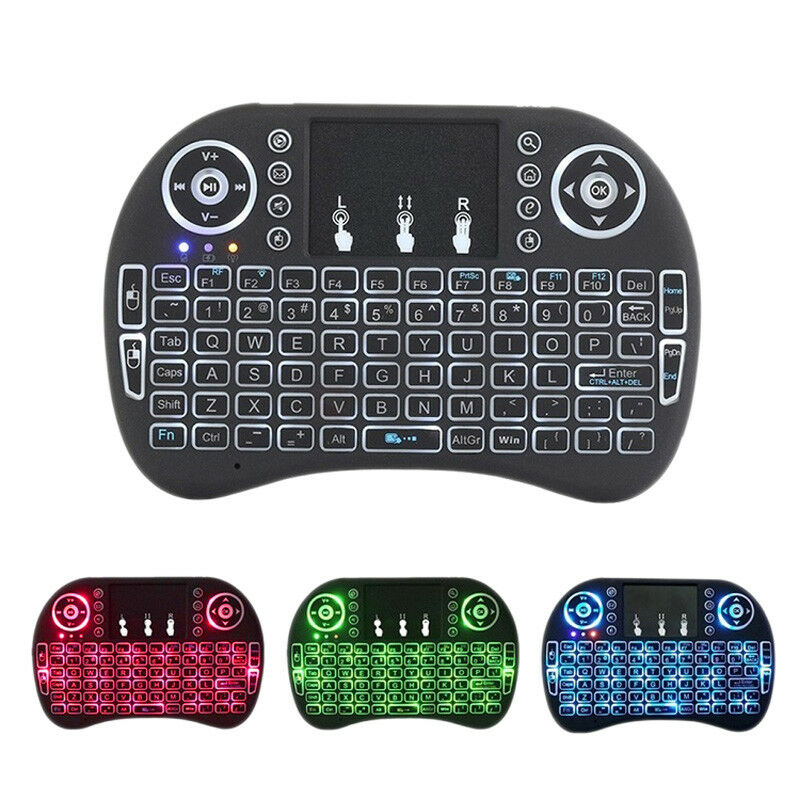 Mini 2.4G Wireless Keyboard Remote Control Backlight for Sma