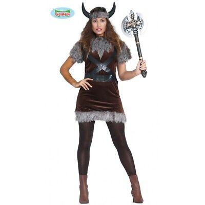 GUIRCA  Costume vestito vichinga Tg. M carnevale donna adulto - Vichinga Kostüm