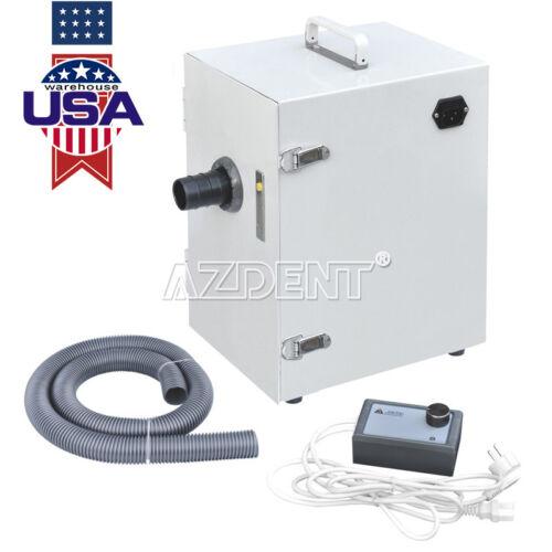 Portable Digital Lab Dental Dust Collector Single-Row Vacuum Cleaner 370W USA