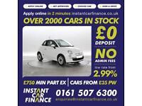 Fiat 500 1.2 ( 69bhp ) 2014MY LOUNGE CHEAP CAR FINANCE