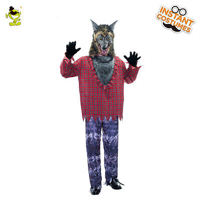 Mens Werewolf Costumes Adult cute Wolfman Cosplay Sets For Halloween Party