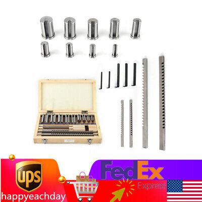 18pcs Keyway Broach Kit 18 316 14 38 Inch Hss Cnc Metalworking Cut Tool Set