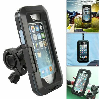 360° Waterproof Phone Mount Handlebar Holder Case Bike Motorcycle iPhone Samsung