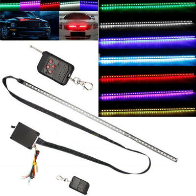 7 Color 48 LED RGB Knight Rider Scanner Flash Car Strobe Light Kit Strip 22 Inch Knight Rider Scanner