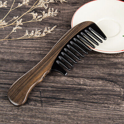 Anti-static Horn Comb Wide Toothed Comb Curly Hair Brush Wooden Massage Comb