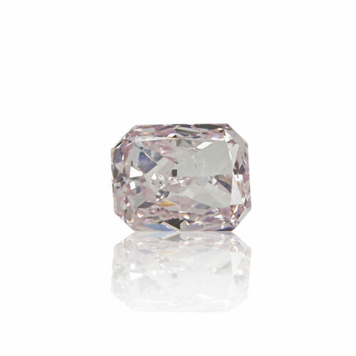 Natural Pink Diamond 0 .10 Ct Fancy Light Color GIA Certified Radiant Cut Real