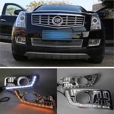 Car LED DRL Daytime Running Lights DRL Driving Lamp For Cadillac SRX