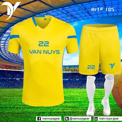 VANS 14 Team Uniform Set Shorts & Shirt Soccer Set Sublimated Wholesale kits