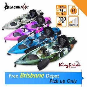 BLACKHAWK LANDED Single Fishing Kayak Package with FREE Leash Brendale Pine Rivers Area Preview