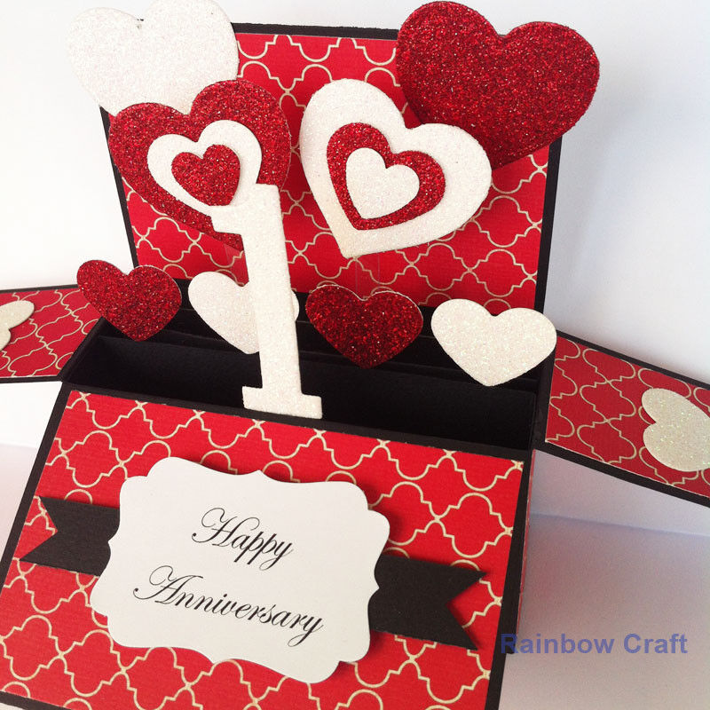 Handmade 1st Anniversary Card, First Anniversary Card, 1 Year Anniversary card