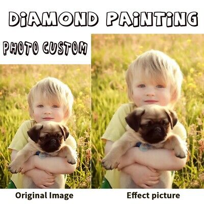 Customized 5D Diamond Painting Full Round Drill Art Home Decor DIY Best Gift