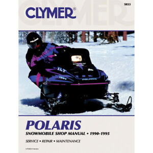 Polaris Snowmobile 1990-1995 - New Clymer Manual  S833