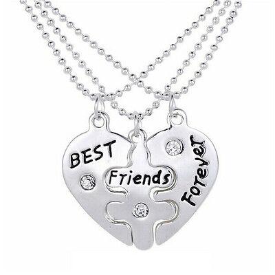 Bester Freund für immer gebrochenes Herz Kristall Anhänger Halskette FreundschTP ()