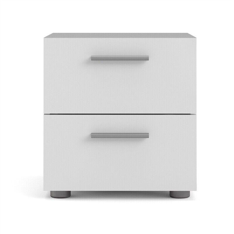Tvilum Austin 2 Drawer Nightstand in White