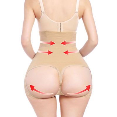 Womens Lace Butt Lifter Panty Booster Booty Enhancer Tummy Control Body Shaper