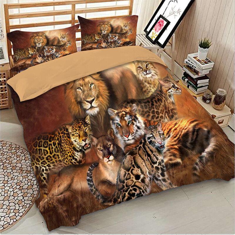 Animal Duvet Cover Set For Comforter Queen King Size Bedding