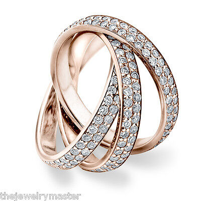 youre almost done diamond rolling eternity band wedding ring rose gold 3 carat - 3 Carat Wedding Ring