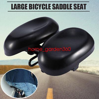 Durable Ergonomic Bicycle Seat Big Soft Bum Comfort Padded Adult Noseless -