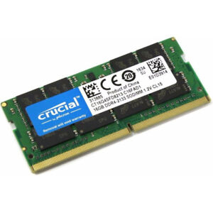 Crucial 16gb DDR4-2133 SODIMM 1.2V CL15 (PC17000), 260pin