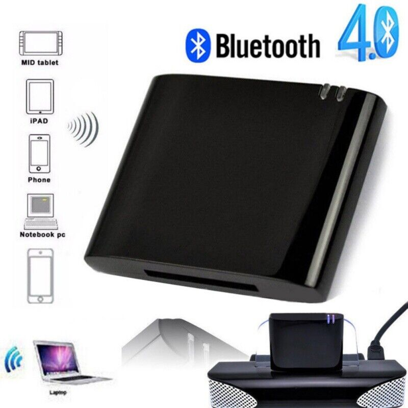Bluetooth V4.1 Music Audio Receiver Adapter for iPod iPhone 30 Pin Sound Dock US