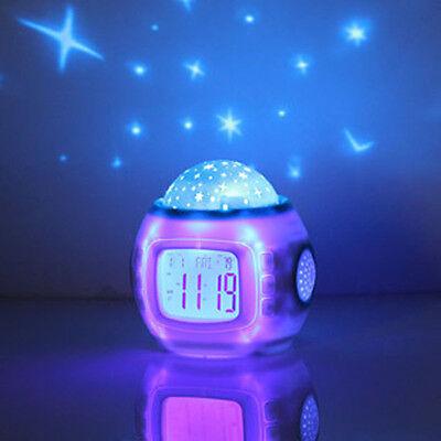 Children kids room sleeping music Clock Sky ...