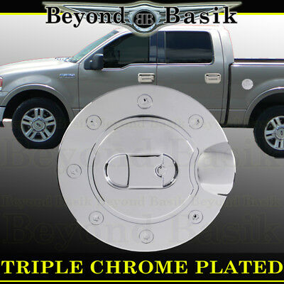 2004-2008 FORD F150 F-150 Triple ABS Chrome Fuel Gas Door COVER Cap Overlay Lip 2006 Chrome Headlights Trim