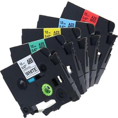 5pk P-touch Label Tape Compatible For Brother P-touch Tz Tze 231 431 Ape 12mm