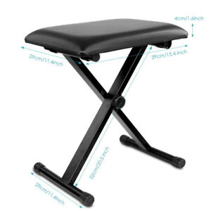 "Piano Bench Stool 3-Position Height Adjustment(16.5""/17.5""/19.5"