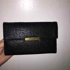 Black Faux Leather Hurley Wallet