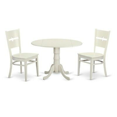 3 Piece dining room table set for 2-Small kitchen table and 2 dinette chairs NEW ()