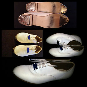 Size 7.5 Mens White Clogging Shoes