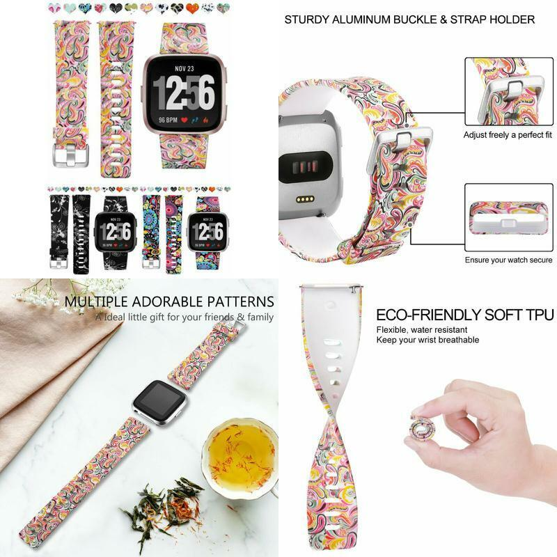 silicone band replacement women smart watch floral